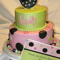 Baby Shower Cake Cake made to match invitations.