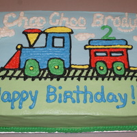 Choo Choo   All buttercream. Hand drawn