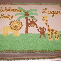 Jungle Baby   All buttercream