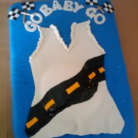 Race Themed Baby Shower Cake