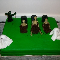 Graveyard done for girl @ works party, chocolate cake with bavarian cream filling