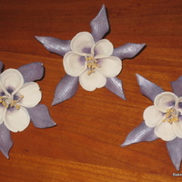 Gumpaste Columbines gumpaste columbines. I was commissioned to make these gumpaste columbines by another caker who had ordered silk columbines for a wedding...