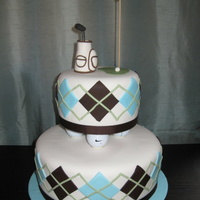 Golf Cake The original design for this cake is not my own...my client sent me a pic, but I don't know whose it is, so I can't give proper...