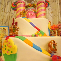 Candyland My daughter/niece's combined Birthday cake.