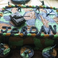 Camo Cake I made this cake for my nephews 7th birthday party.
