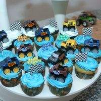 Monster Truck Cupcakes Monster Truck Cupcakes I made for my sons birthday party.