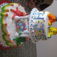 Clown Cake I made this at the Wilton course two class. This was my final cake for course two.