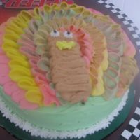 Turkey Cake This is a Turkey cake made with butter cream. I got this idea from other pics here on CC.