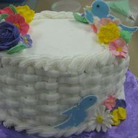Course Two Cake This is the cake I made in the Wilton course 2 class.