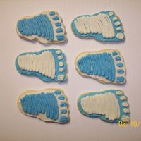 Baby Foot Print Cut-Out Cookies