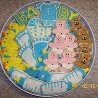 Baby Shower Cut-Out Cookies I love cut-out cookies; these were my first for a baby shower. Thank you to everyone who posted pictures of their cookies; I took a lot of...