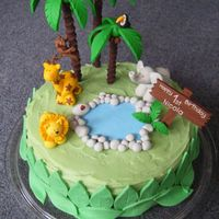 Jungle Cake Here is a cake that I decorated for my nieces 1st birthday. I used fimo for the animals / trees as I wanted her to be able to keep them as...