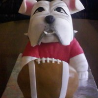 Ga Bulldog Uga Football   This was for a friends husband dang he was a cute cake.