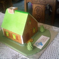 Little House Cake   I made this for a home inspector for one of his clients. They loved it. Cocolate cake with carmel filling