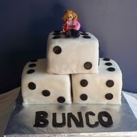 Bunco!!! I made this cake for a fun, crazy group of ladies who love to play bunco. Each cake was filled with a different flavor combination. This...