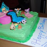 Littlest Pet Shop I made this cake for my daughters 4th birthday. I wish it would have cake out a little better but she loved it!