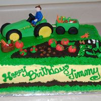 John Deere A lady saw a pic like this of a cake and requested it for her grandfather. I tried not to replicate it so I did change some things...hope...