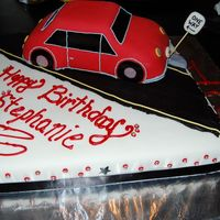 Car Cake Covered in MMF