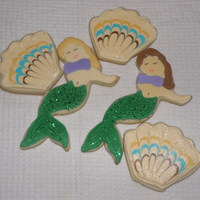 Mermaids And Shells   Vanilla Almond sugar cookies with RI