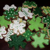 St. Patrick's Day   Sugar cookiesand Cocoa Sugar cookies with RI