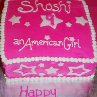 "American Girl Birthday Cake  We did an American Girl Doll fashion party for my daughter's 9th birthday at home. We did an elegant ""tea"" party and the..."