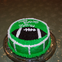 Football Birthday Cake   For my husband's birthday on Superbowl Sunday.
