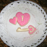 Valentine's Day Cookies NFSC with Glace icing.