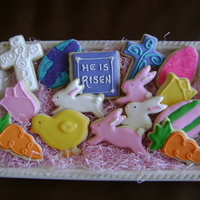 Mini Easter Cookies These NFSC with royal icing were inspired by lots of different bloggers especially SweetSugarbelle. Her site is fantastic and she shares so...