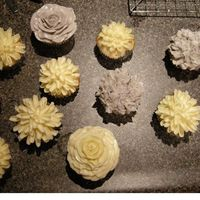 Floral Cupcakes Inspired by little cakes by the whimsical bakehouse. Here are all of them together on my counter TFL!