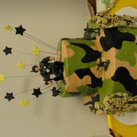 G I Joe Cake Yellow cake with buttercream icing & toys as decorations. Thanks for looking!!!!