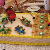Garden Cake Cake was made for a friend who loves to garden. MMF for all decorations