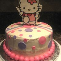 Hello Kitty Cake This was for my co-workers 27th bday. She requested a Hello Kitty cake. I really like the way it came out. Thanks to inspiration from one...
