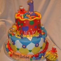 Baby Sesame Baby Sesame themed cake. Butter cream and fondant accents