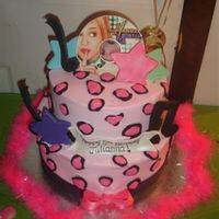 Hannah Montana Birthday I made this cake for my daughters 5th Birthday...She is Hannah Montana crazy!!! And adores pink cheetah print! Cake is butter cream and...