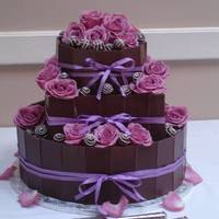 Choc. Bar Wedding Cake