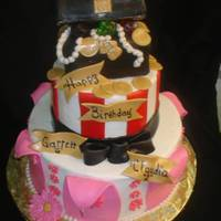 Pirate And Princess This was a pirate and princess themed cake for a brother and sister birthday. Idea was inspired by another picture somewhere here on CC.