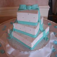 Tiffany Blue BC and tiffany blue fondant ribbon