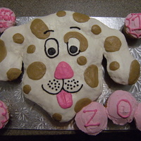 Puppy Dog Cupcake Cake cupcakes aranged and decorated with buttercream