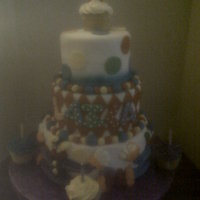 Tiered Clown This is a clown or circus themed cake that my client brought a picture to me to replicate. TFL