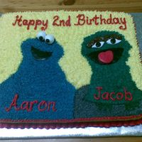Cookie Monster And Oscar The Grouch Cake