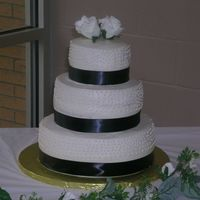 My First Wedding Cake I was so nervous about this cake, from beginning to end. It was 3 tier with cream cheese filling and buttercream icing (Indydebi's...