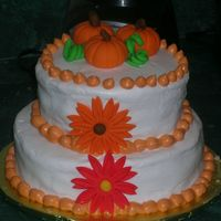 Fall Pumpkin Cake This is a practice cake I made, but I'm extremely unhappy with how it turned out. It was although my first time with fondant figures,...