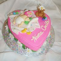 Baby_Cake2.jpg   A heart shaped cake pan was used. The cake and all 3D elements were hand sculpted out of fondant.