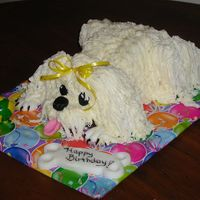 P1010005.jpg   First attempt at making this little doggie cake.