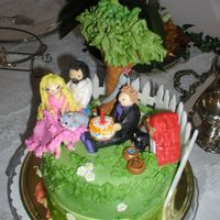 Birthday In The Garden  This cake was made for a girlfriends child. They have more than a few pets (including a SNAKE). So,, it was important to include all of...
