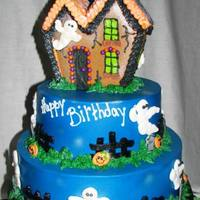 Halloween Haunted House Birthday Cake