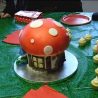 Mushroom Cake For a gnome-themed party.