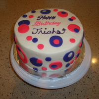Birthday Cake   I made this last minute for my niece's 20th birthday party.