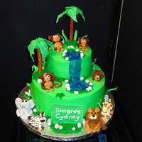 Jungle Cake  I made this for a baby shower at work. I am really happy with the way it turned out. Everyone at the party loved it, especially the mom to...