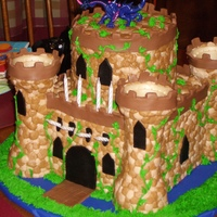 Castle Cake Castle cake for my grandsons 8th birthday